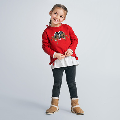 MAYORAL Girls Set 2 pieces Sweatshirt and Leggings 'Trainers' Red/Grey 4732-14 NOW £16.95
