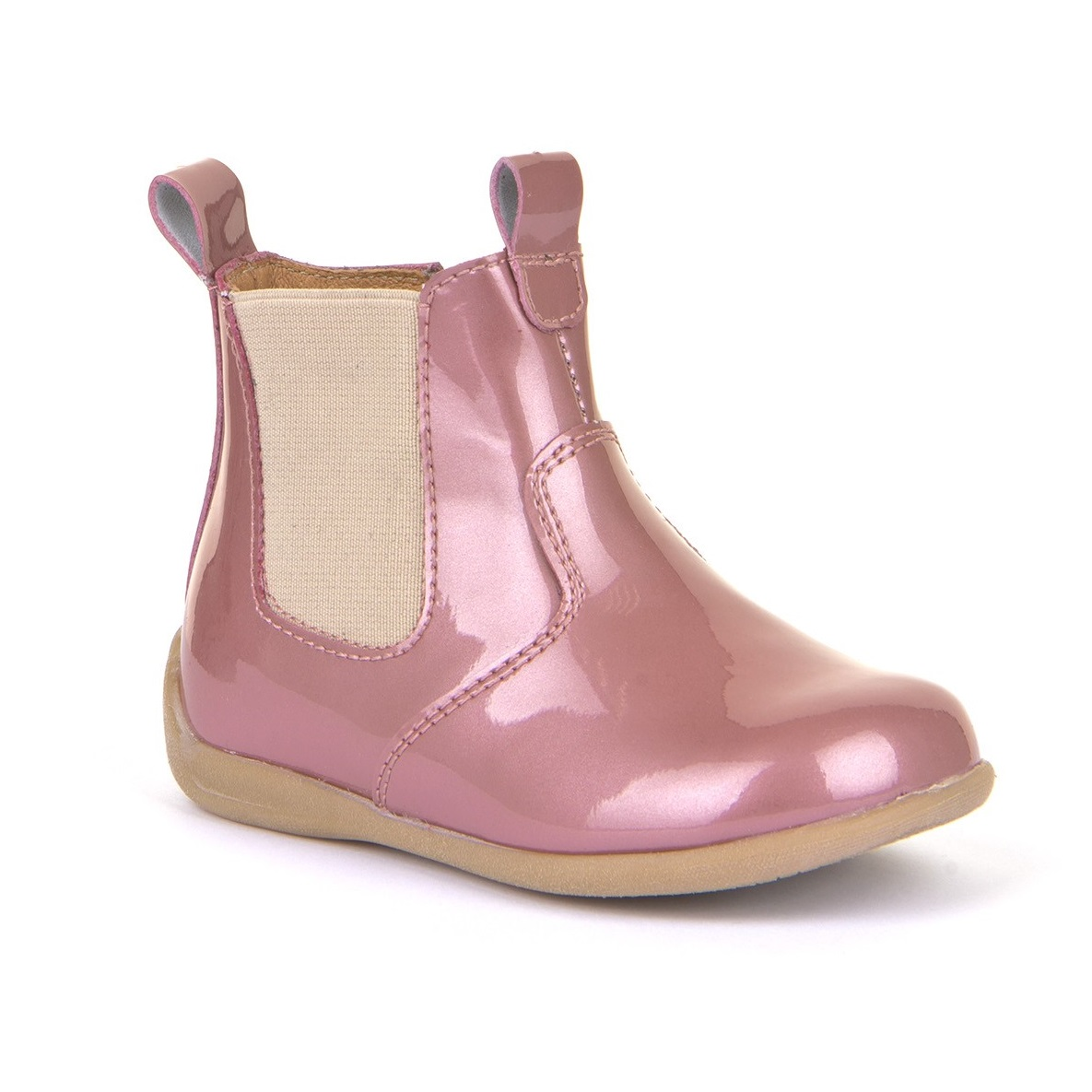 FRODDO Pink Patent Chelsea Boots G2160054