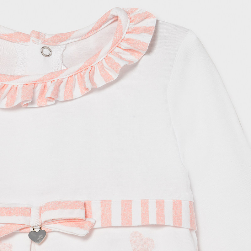 MAYORAL BABY GIRL Knitted Heart Pyjama 1604-044