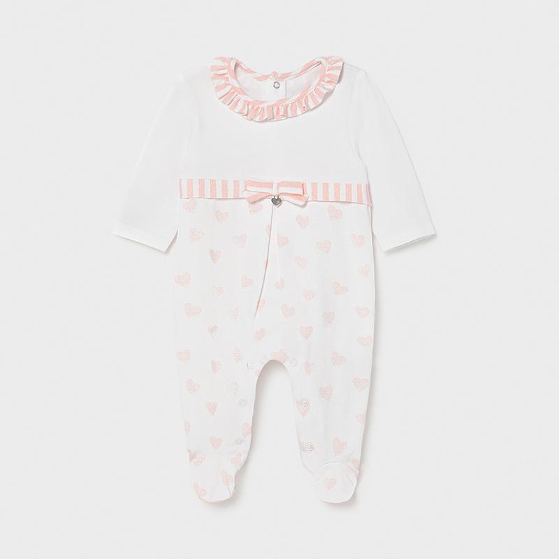 MAYORAL NEWBORN GIRL Knitted Heart Pyjama 1604-044
