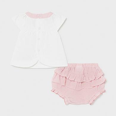 MAYORAL BABY GIRL Set Pink Shorts 1297-075