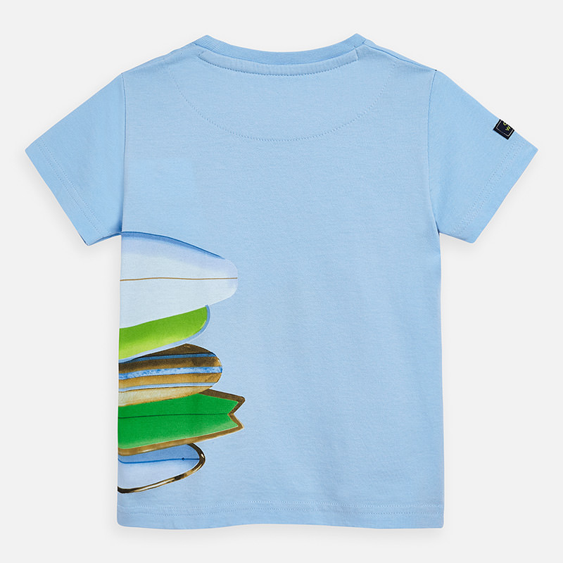 """MAYORAL Boys T-Shirt S/L  Sky """"On the wave"""" 3067-54"""