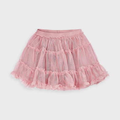 MAYORAL Girls Skirt Tulle Pink 4953-097