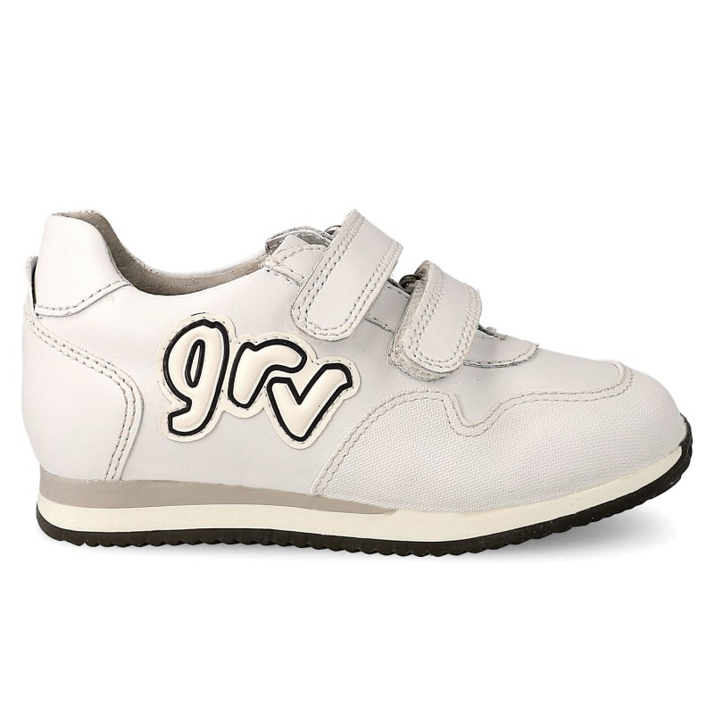 GARVALIN Boys/Girls Trainers White 171350-1