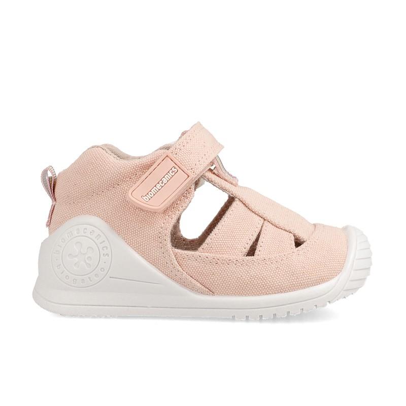 BIOMECANICS Girls Closed Canvas Sandals Salmon 202203 NOW £20