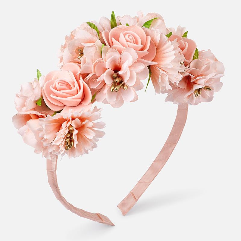 MAYORAL Girls Headband Flowers 10797-63. Before £10.50