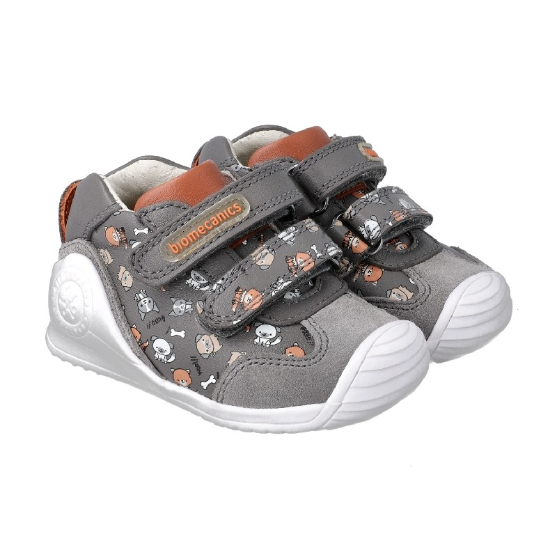 BIOMECANICS Boys/Girls Ankle Boots Grey 'Dogs' 201128-A NOW £29.95
