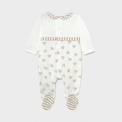 MAYORAL NEWBORN GIRL Knitted Heart Pyjama 1604-043 NEW SEASON