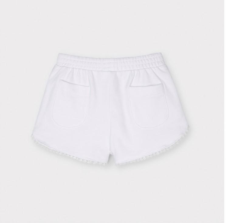 MAYORAL GIRLS White Jogger Shorts 607-036