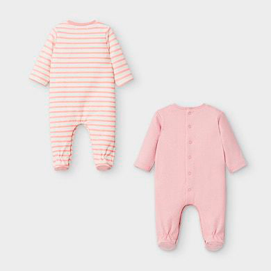MAYORAL Baby Girl Cat Pyjama Set Blush 2757-096