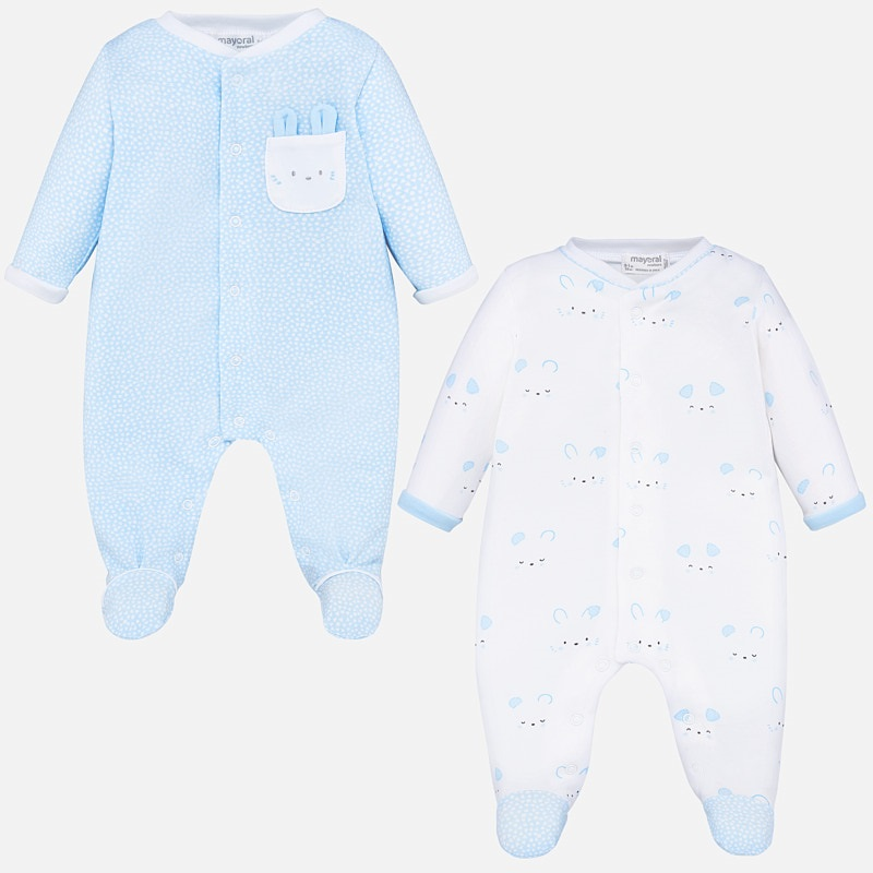 MAYORAL BABY Blue Set Bunny and Bear  1769. Before £22.95