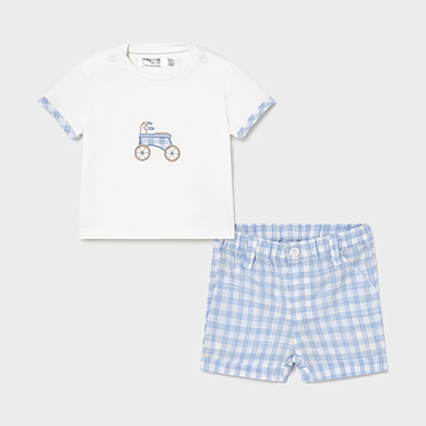 MAYORAL NEWBORN BOY T-Shirt and Shorts Set 1205-086