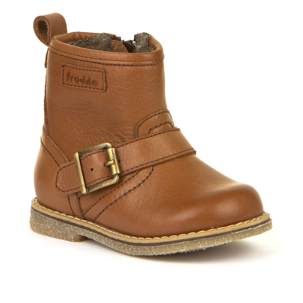 FRODDO Boys/Girls Boots Buckle Cognac G2160055-1 NOW £39.95_ Last Pair