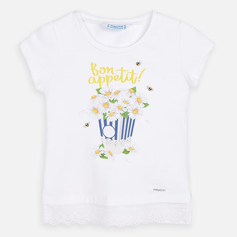 MAYORAL Girls short sleeved t-shirt 3013-041. Before £13.95