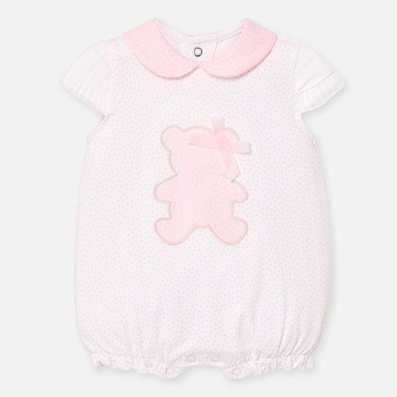 MAYORAL BABY Girl Bear Pink Romper 1753-26. Before £16.95
