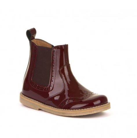 FRODDO Wine Patent Chelsea Boots G3160119-15