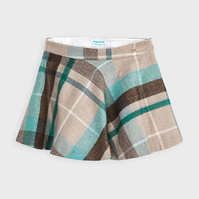 MAYORAL Girls Teal and Brown Skirt 4952-086