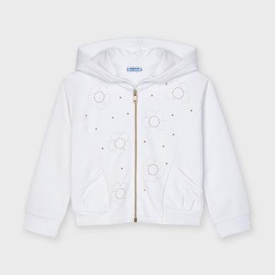 MAYORAL GIRLS Hoodie 'Flowers' White 3481-032