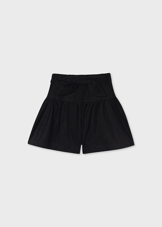 MAYORAL TEEN GIRL Black Bow Shorts 7907-24