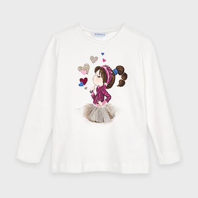 MAYORAL Girls long sleeved t-shirt 4070 -049