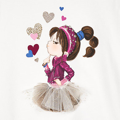 MAYORAL Girls long sleeved t-shirt 4070 -049