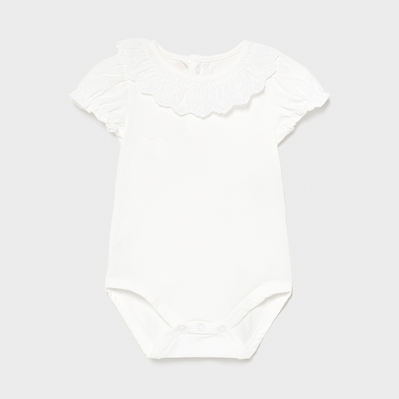 MAYORAL BABY GIRL Ruffle Neck Body Suit 1703-078