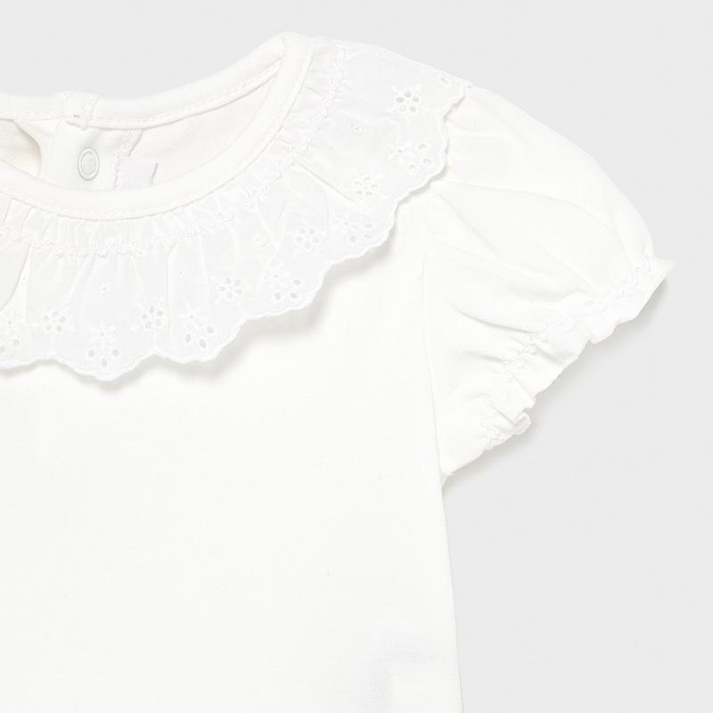 MAYORAL BABY GIRL Ruffle Neck Body Suit 1703-078