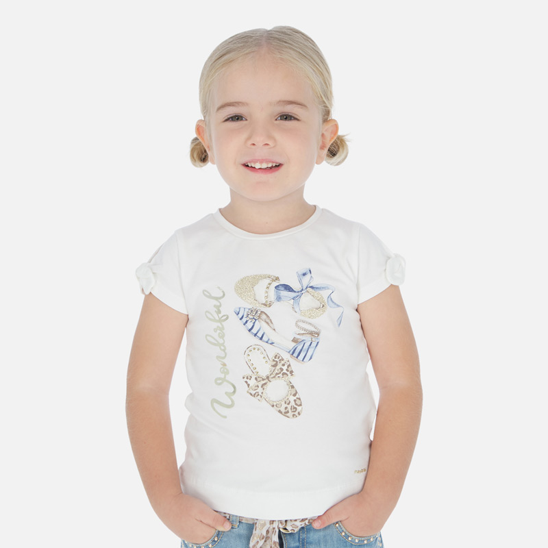 "MAYORAL Girls T-Shirt ""Wonderful"" 3010-069"