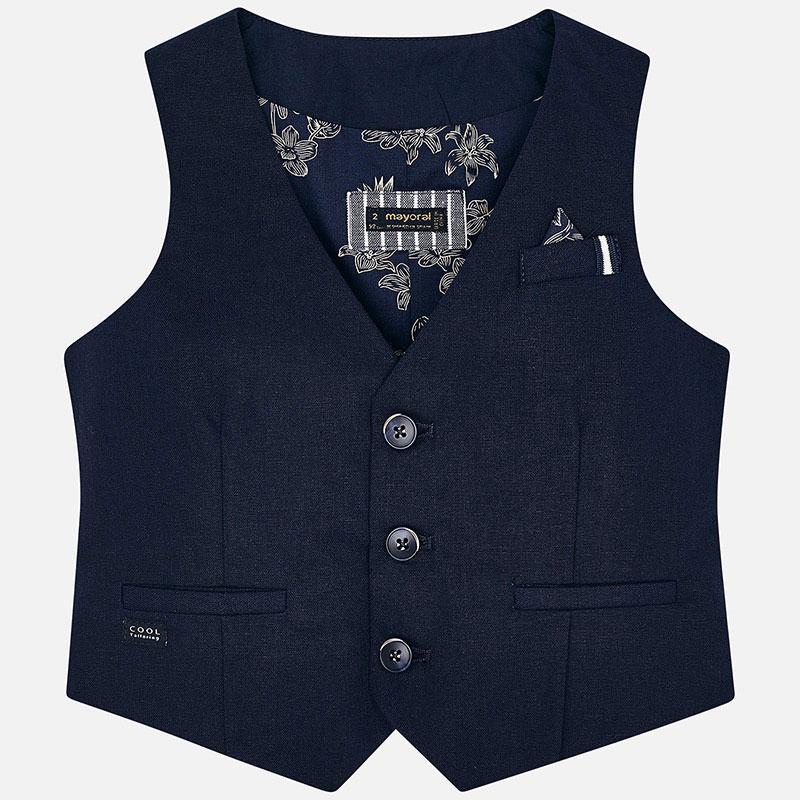 MAYORAL Boys Vest-Tailored, linen 3438-075