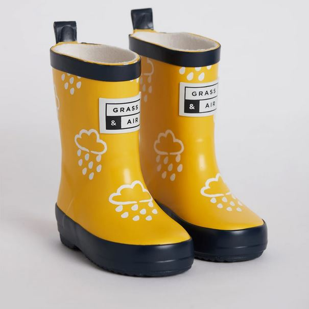 GRASS AND AIR Yellow Colour-Revealing Wellies