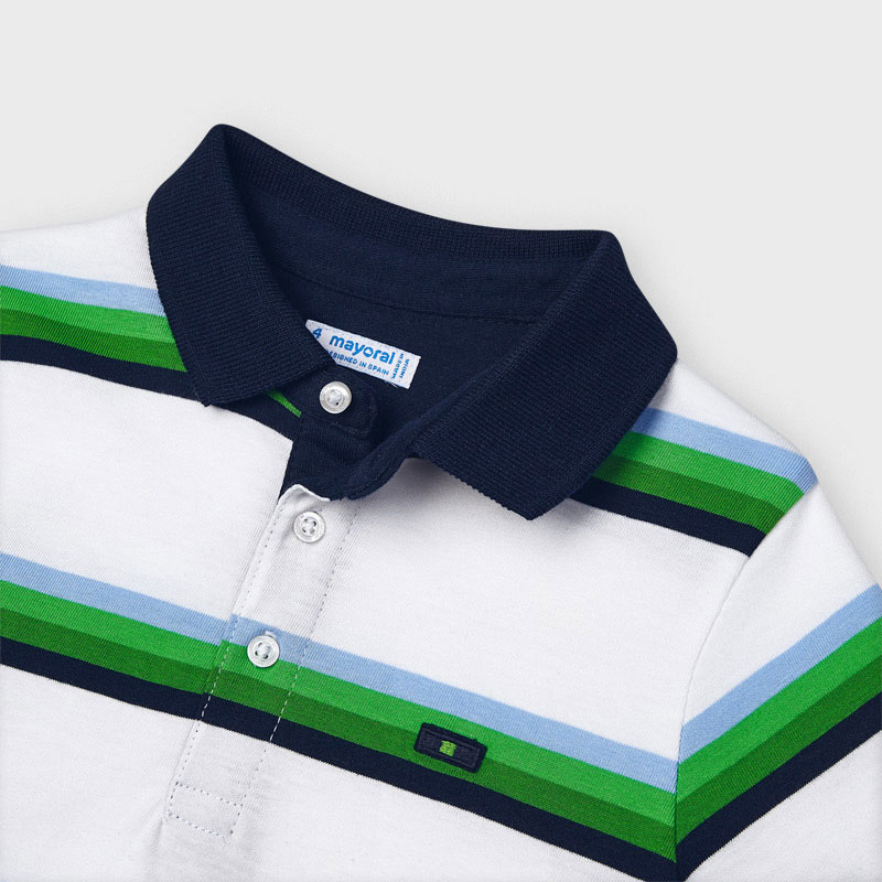 MAYORAL BOYS Stripes Short Sleeve Polo T-Shirt and Shorts 3111-092