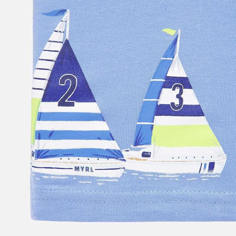 MAYORAL BABY BOY Polo T-Shirt Sailing Boats 1149-28
