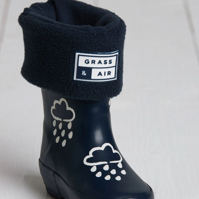 GRASS AND AIR BOYS/ GIRLS Navy Welly Boot Sock