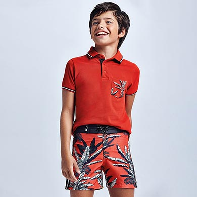 MAYORAL TEEN BOY Tropical Swimming Shorts 6634-025