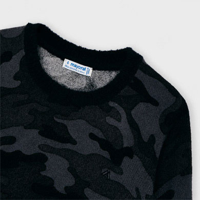 MAYORAL Boys Jumper Camouflage Grey 4327-086. NOW £11.95