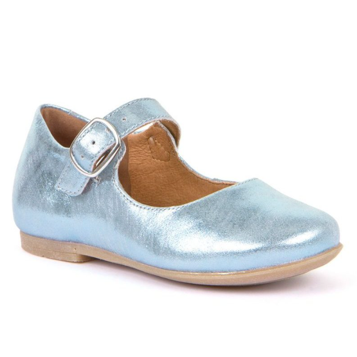 FRODDO Girls Mary Jane Light Blue/Silver G3140103-2