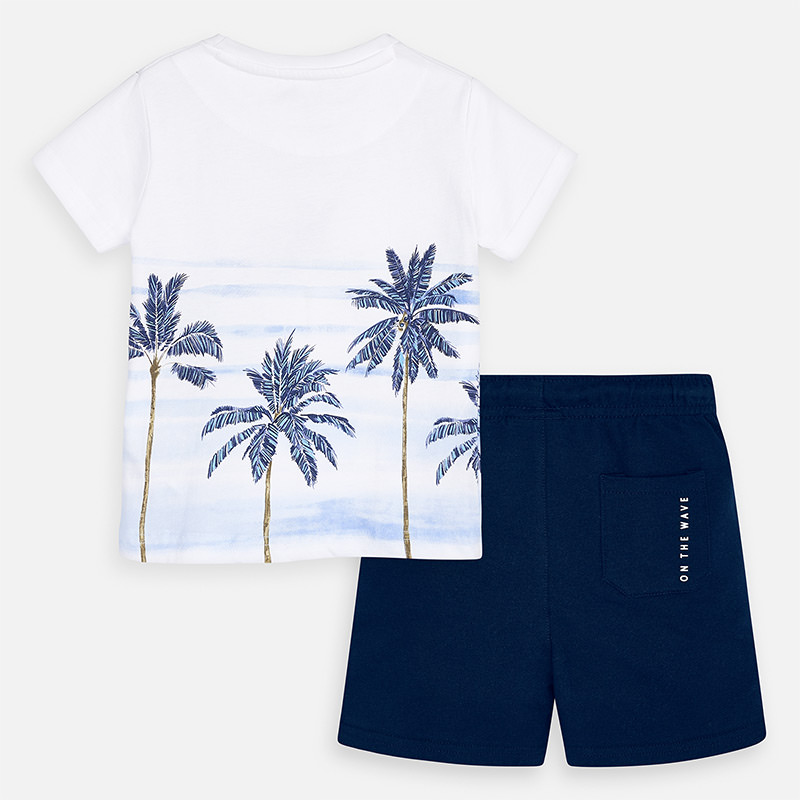 MAYORAL Boys t-shirt and shorts set- Palms 3621-095. Before £22.95