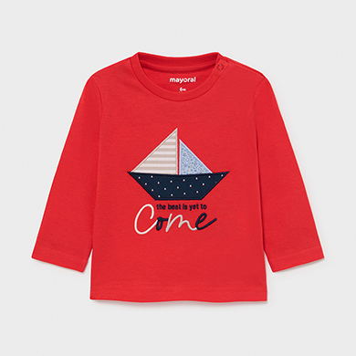 MAYORAL BABY BOY T-shirt Long Sleeved 'Boat' 1017-010 NEW SEASON