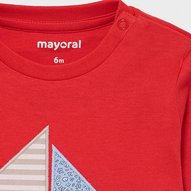 MAYORAL BABY BOY T-shirt Long Sleeved 'Boat' 1017-010 NEW SEASON