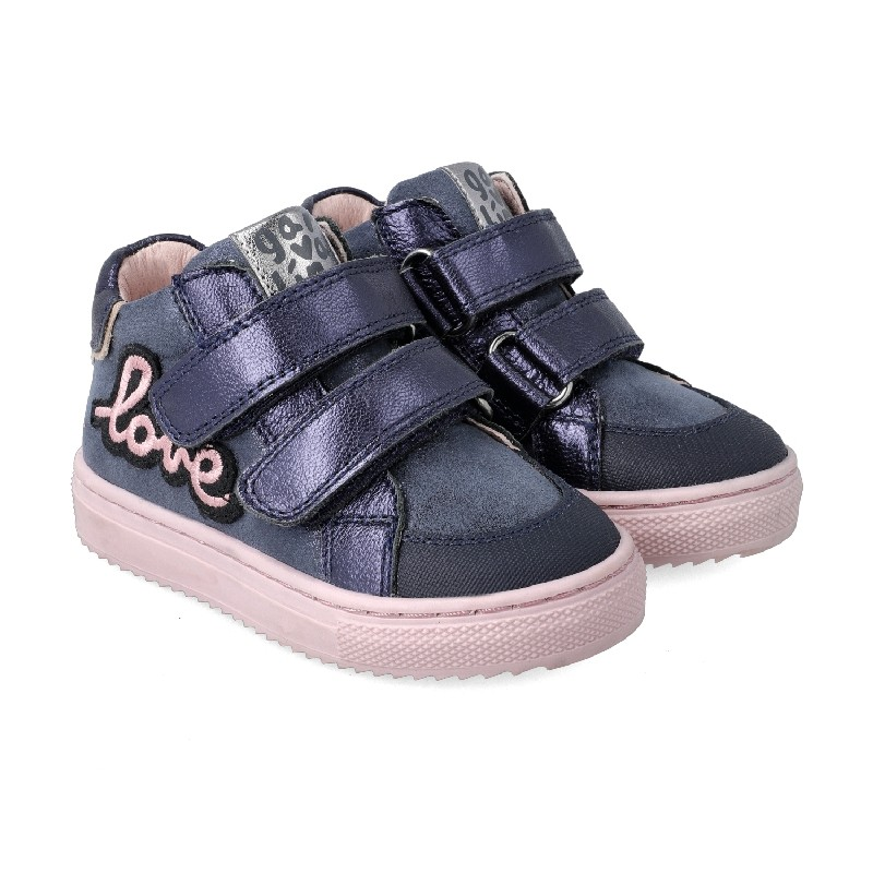 "GARVALIN Navy and Pink ""Love""  201361-A"
