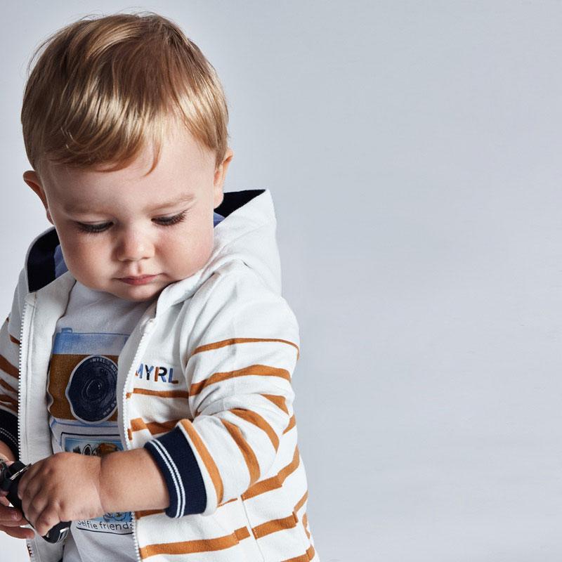 MAYORAL BABY BOY Striped Hoodie 1408-037