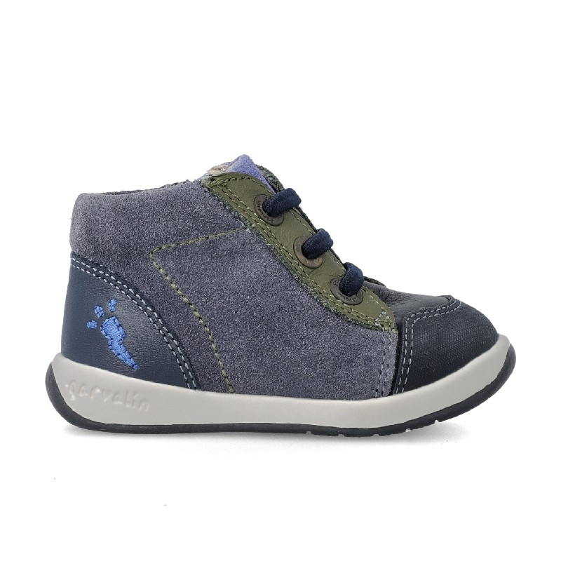 GARVALIN Boys Ankle Boots Elastic laced and zipped 201331-B NOW £29.95