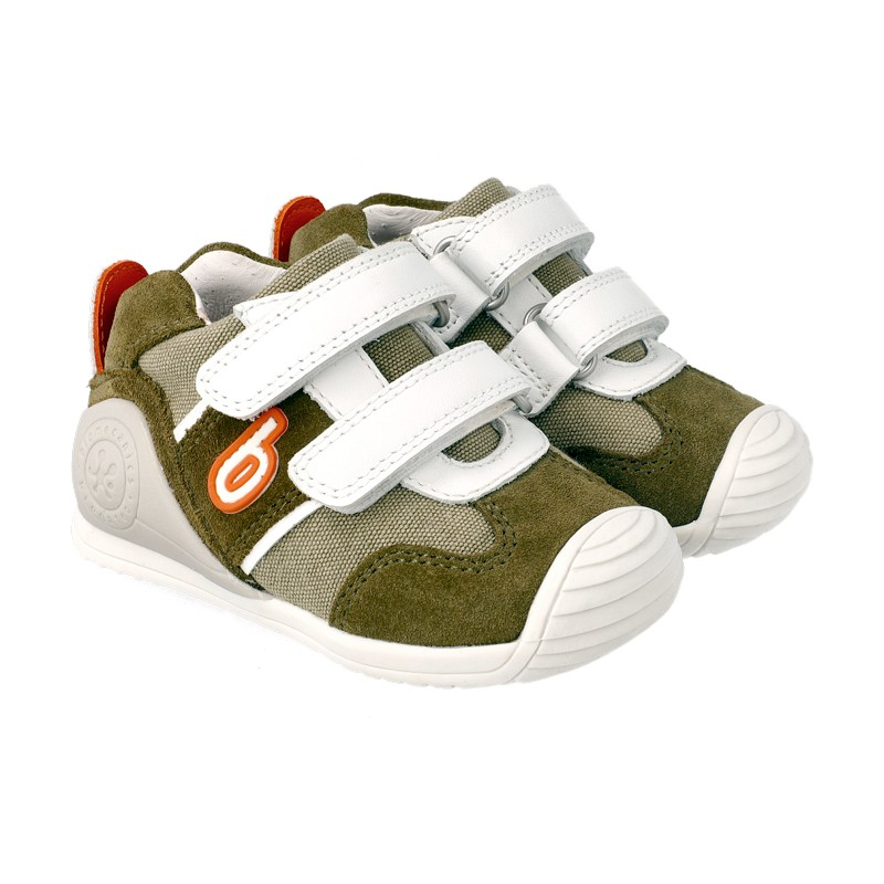 BIOMECANICS BOYS Kaki Trainers 'Colin' 212153B