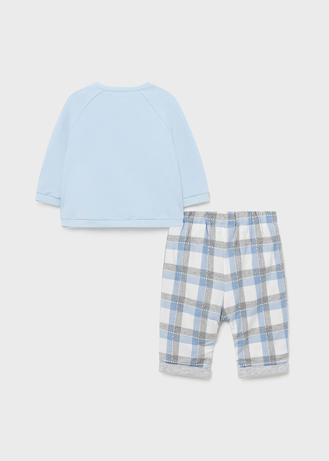 MAYORAL BABY BOY Blue Check Two-Piece 2514-038