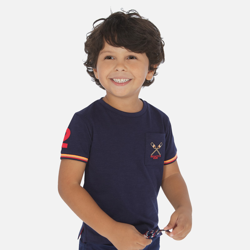 MAYORAL Boys short sleeved t-shirt paddles 3058-023. Before £12.95