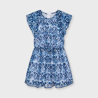 MAYORAL GIRLS Chiffon Print Dress 3937-054