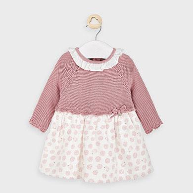 MAYORAL Baby Girl Pink Hedgehog Dress Blossom 2852-76
