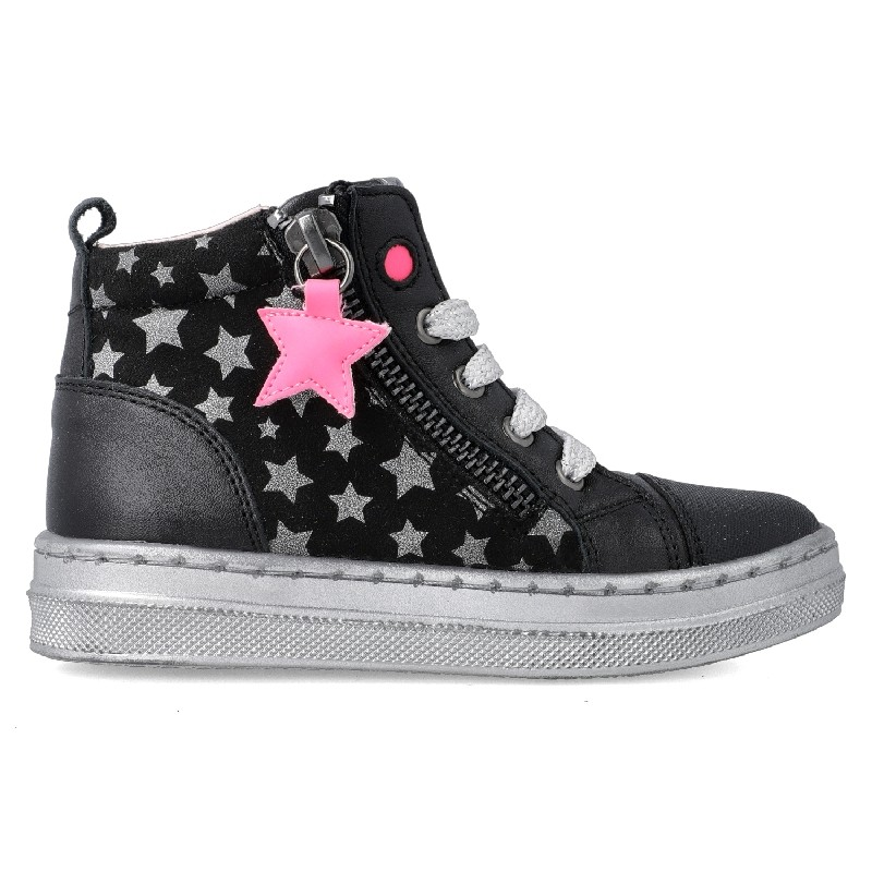 GARVALIN Girls Ankle Boots Zip Black Star 201639-A NOW £39.95