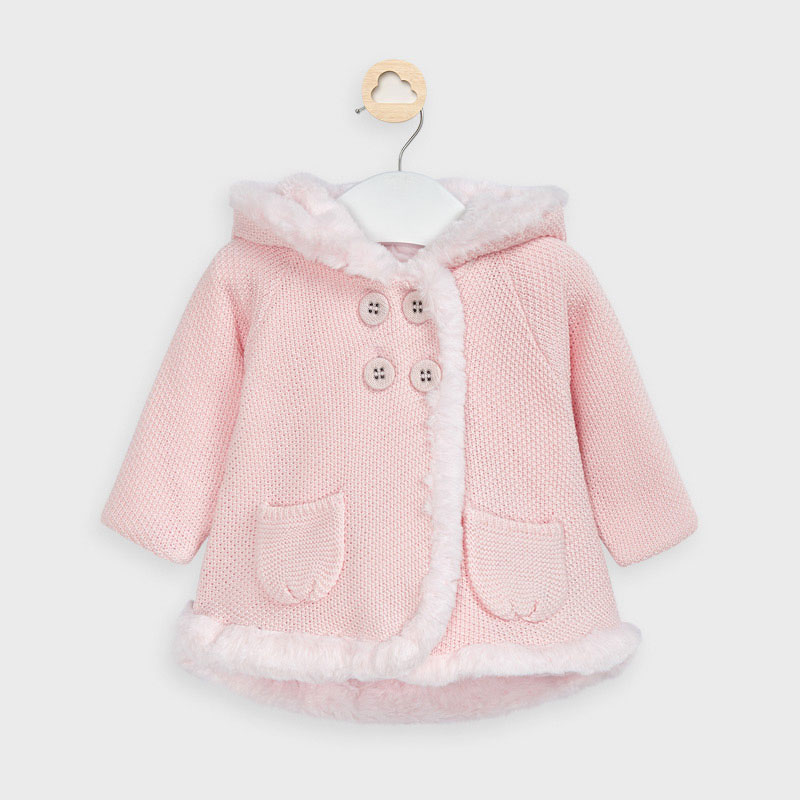 MAYORAL Girls Knitted Coat Pink 2337-090 NOW £15.95