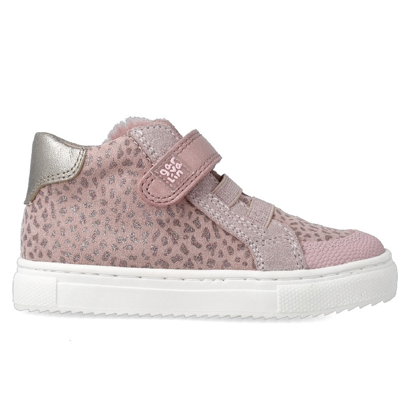 GARVALIN Girls Ankle Boots Pink 'Leopard Print' 201360-C NOW £35.95